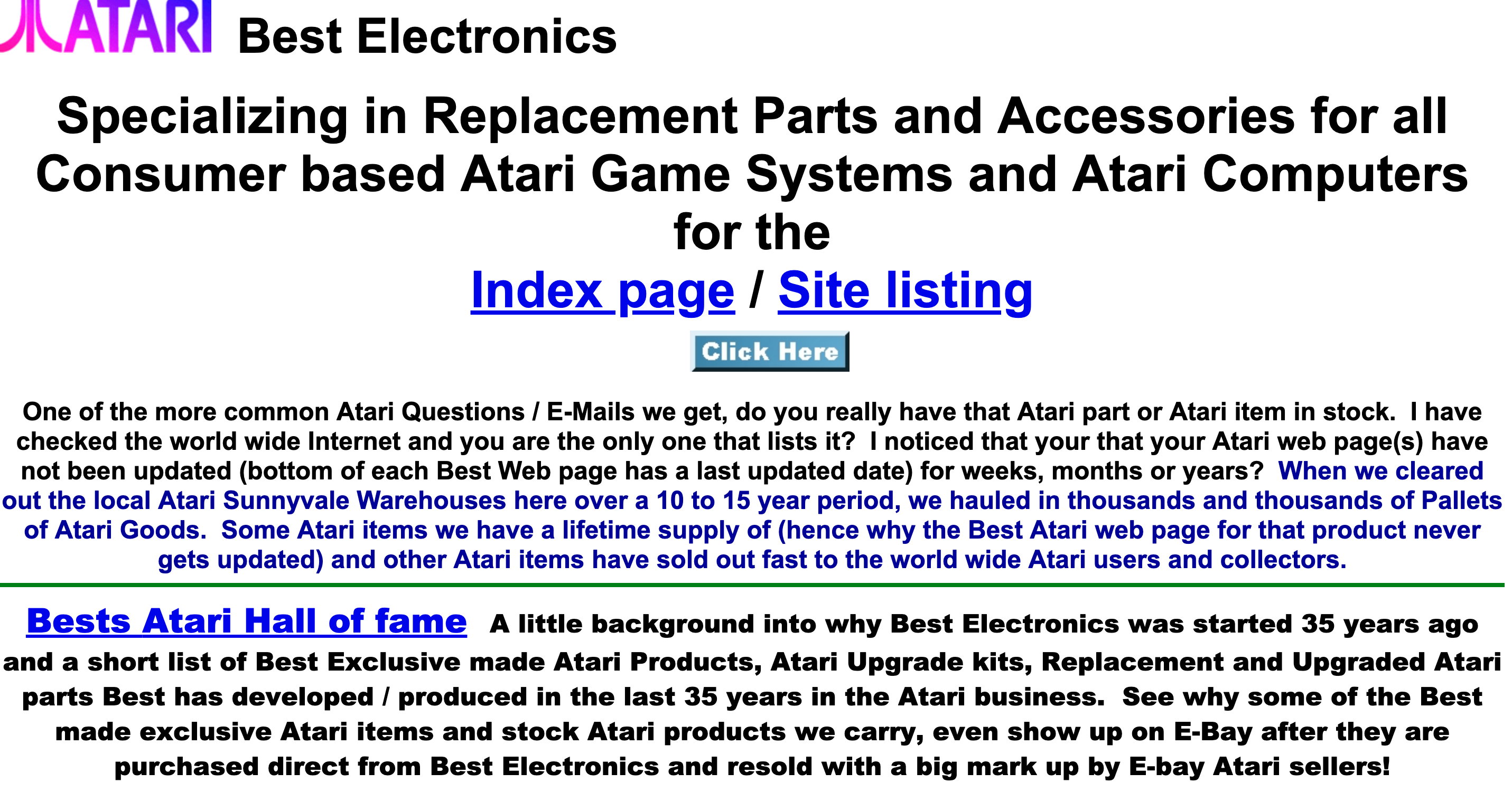 Bad website example - Best Electronics