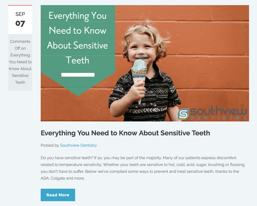 Southview Dentistry blog | Laire Group Marketing - dental marketing agency