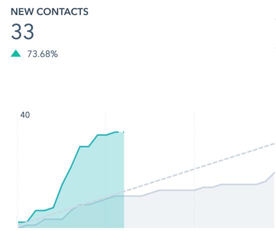 HubSpot - lead generation - new contacts screenshot