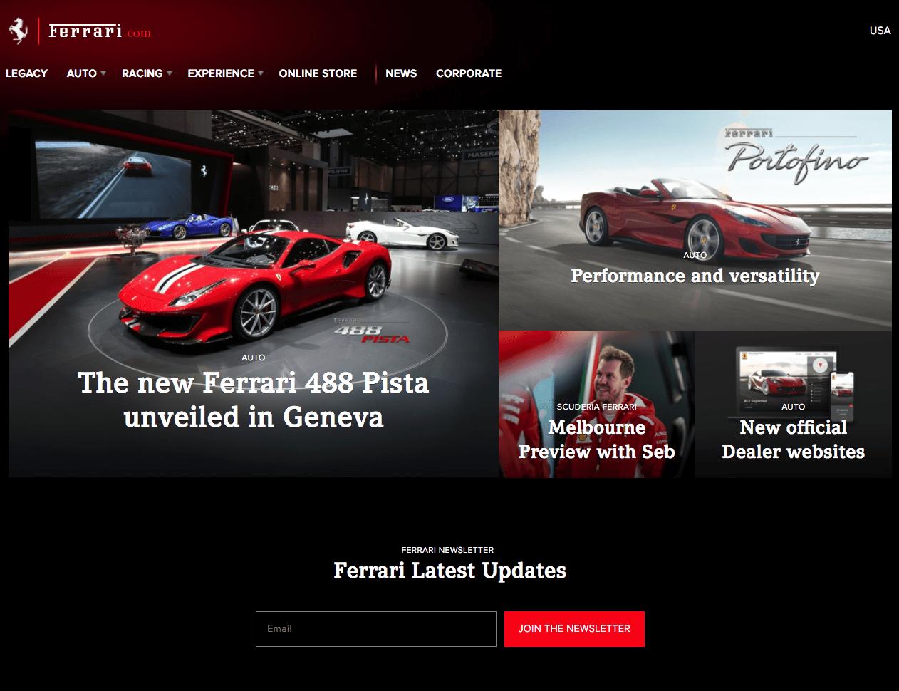 Design-red-color-tone-Official-Ferrari-website