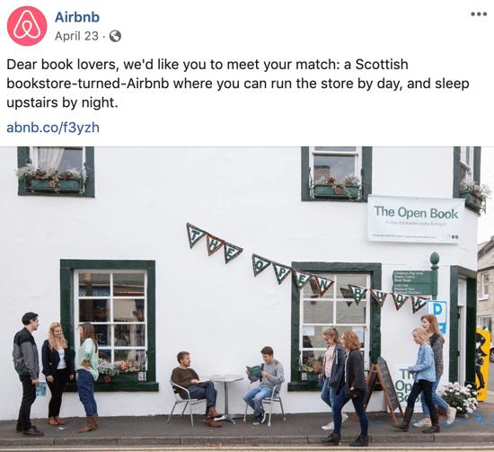 Storytelling marketing on social media - Airbnb