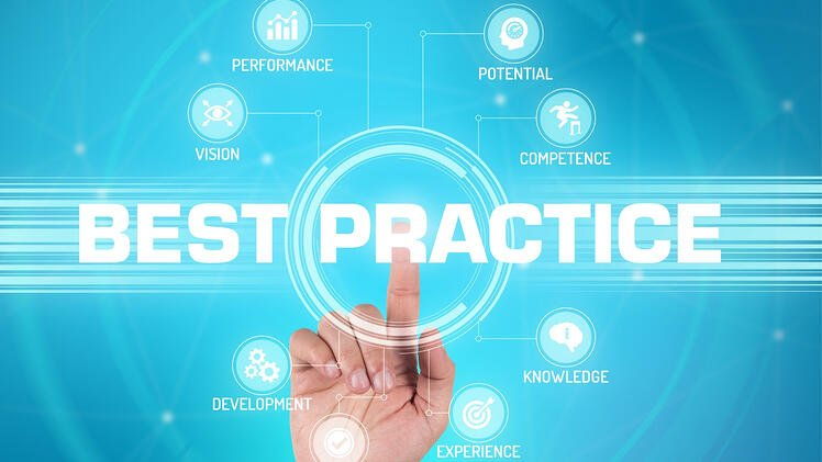 Upselling Best Practices | Cross-selling vs. Upselling | Hand pressing best practice on the screen