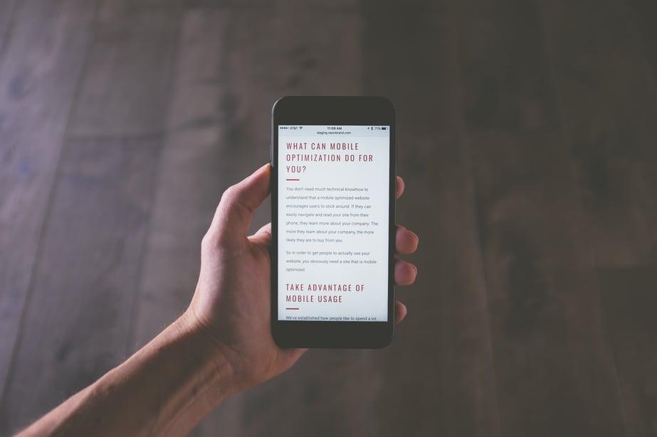 mobile website redesign