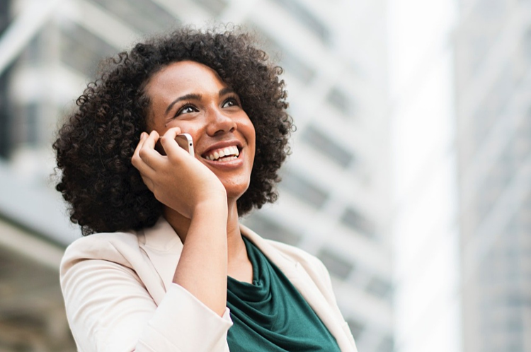 talking to your ideal buyer personas - business woman on phone
