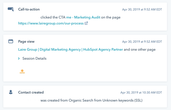 website lead in HubSpot